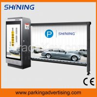Parking advertising barrier with LED on arm