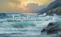 Art painting on canvas for sale art wall decoration stickers sea scene