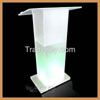 high quality acrylic podium, acrylic podium with LED lights