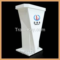 white color acrylic podium, acrylic podium with LED lights