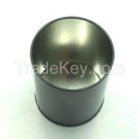 Round tin pencil holder