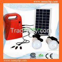 3W Portable Solar System Lighting Kit