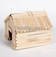 114mm plain DIY Craft Creative wood craft popsicle sticks