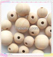 12mm natural DIY craft wood beads