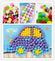 assorted acrylic DIY craft pom poms for Kids