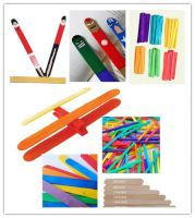 114mm Colored DIY Crafts Creative Kids Wood Sticks