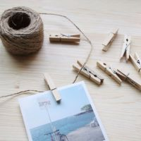 Colored Mini Spring Wood Clothespins