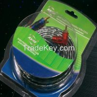 Glolden plug gray jacky car audio cable