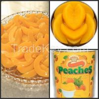 canned yellow peach in halves