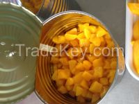 canned yellow peach 3kg diced ireegular