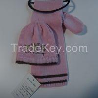 Knitting scarf & gloves set