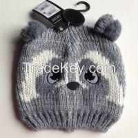 100% acrylic jacquard animal pattern hat