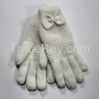 Acrylic Knitting Gloves with sequins for Ladies