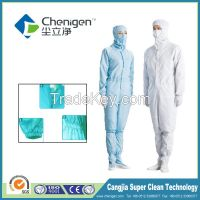 Anti-static protective work uniforms, suitable for cleanroom industries