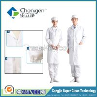 Cleanroom esd apparel, unlined long gown