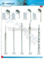 Scalars, Tweezers, Dental Mirrors and Mirror Handles