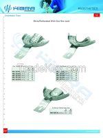 Impression trays perforated and solid