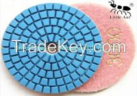 high quality Diamond wet polishing pad for granite,marble,stones