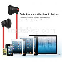 BALDOOR E100 In Ear Headphones Earphones with 3.5mm headphone jack Black