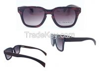Square Frame Acetate Front Frame Wooden Temple Sunglasses Simple but Exquisite Unisex Style Eyewear