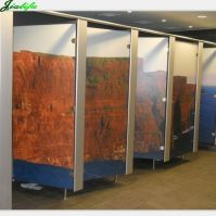 Toilet partition compact HPL picture painted surface