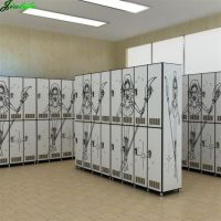 Gym locker compact hpl laminates digital printed design