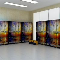 School locker compact hpl laminate digital printed creative