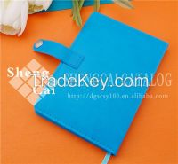 Wholesale A5 blue PU discolored wholesale leather journal