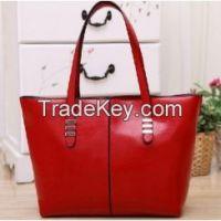 women's genuine leather+PU Leather handbag