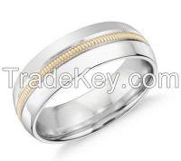 Saw embedded platinum ring