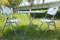 Balcony garden table and chairs for outdoor dining terrace, courtyard leisure folding chairs