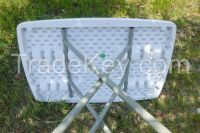 Balcony or garden leisure Plastic Folding table