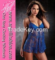 Sleeveless Lace Sexy Babydoll Lingerie Online 2015