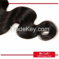 2015 new hot selling 100% human hair body wave natural color, brazilian virgin human hair