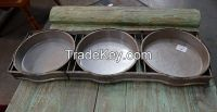 3 Round Industrial Tray