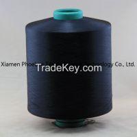 Polyester Yarn DTY 150d/48f Him Dope Dyed Black Yarn