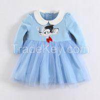 Baby clothes girl fleece dress