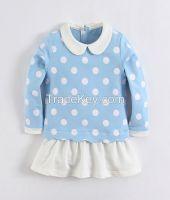 Wholesale Baby clothes cute fleece dress