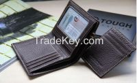 Fashion closure leather Cattlehide Wallets woth card holder