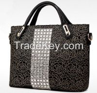 Ladies Fashion Genuine Leather Handbag Women Shoulder Tote Bag Elegance China Wholesale Handbag