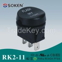 RK2-11 SPST 6A 250VAC Rocker switch