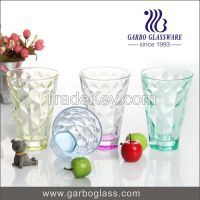 fancy colorful glass drinking ware pint glass cup