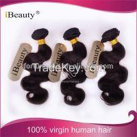 2016 iBeauty wholesale cheap good remy virgin hair brazilian hair body wave hair weave