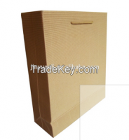 2015 New Cheap Kraft Paper Bag With Flat Handle