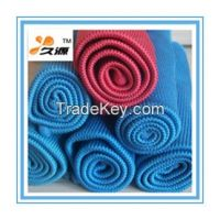 Manufacturer directly supply top quality 80/20 streak free microfiber glass towel (JY-0011)