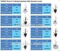 NSSC high lumens hid bulb 3 years warranty xenon headlight bulbs with emark