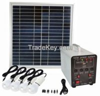 15w portable solar lighting system/ solar power system/DC appliances with built-in 7AH lead acid battery with 5V&12V output for lighting and phone charge
