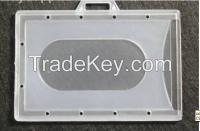 rigid clear plastic ID card holder with custom LOGO