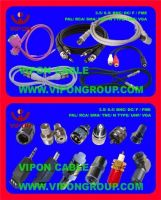 RF connector, cable accessories, BNC, F, PAL, IEC, FME, TNC, N Type, UHF, RCA