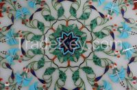 Marble Dining Coffee Table Top Handmade Malachite Marquetry Home Decor Gifts